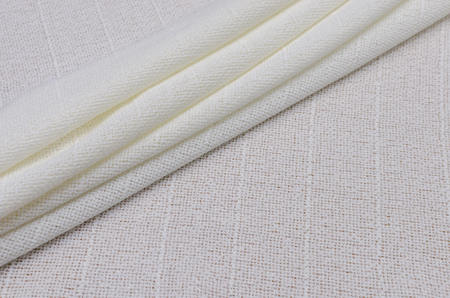 Silk and acetate fabric, ivory