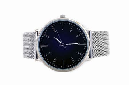 Elegant steel watches isoated on white