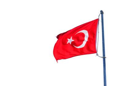 Turkey flag isolated on white