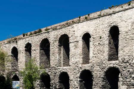 Ancient roman Aqueduct of Valens in Istanbul