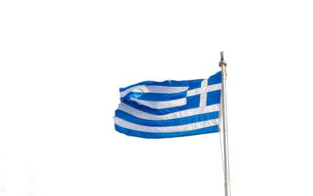 Greek flag isolated on white