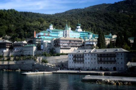 Panteleimon monastery on the Holy Mount Athos