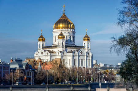 Russian Orthodox Cathedral - The Temple Of Christ The Savior in Moscow, Russian Federation