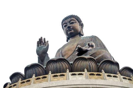 Big Buddha on Lantau island, isolated