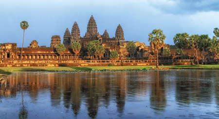 Golden sunset at the Angkor Wat Stock fotó