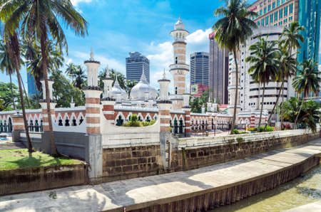Kuala Lumpur, Malaysia - Masjid Jamek Mosque in center of Kuala Lumpur. The mosque was built in 1907 Stock Photo
