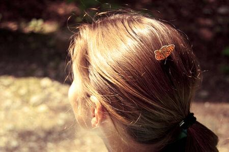 autumnn: butterfly on the head