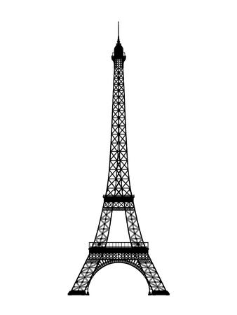 simbol: torre eiffel illustrazione