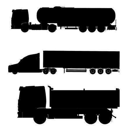 camión cisterna: camiones silueta de contorno