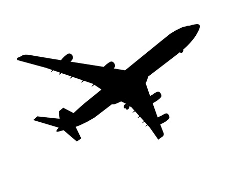airplane airbus silhouette cg outline Stock Photo - 11731232