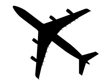 jetplane: aereo airbus silhouette cg contorno