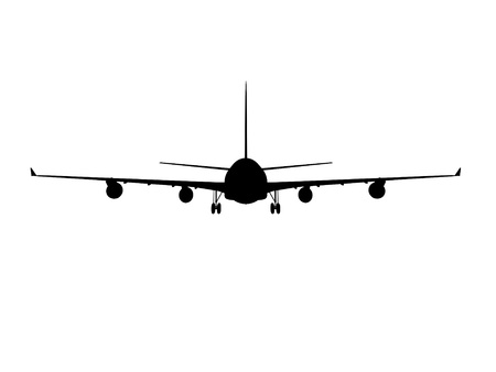 passenger plane: airplane airbus silhouette cg outline