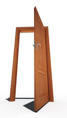 go inside: open door alpha chanel Stock Photo