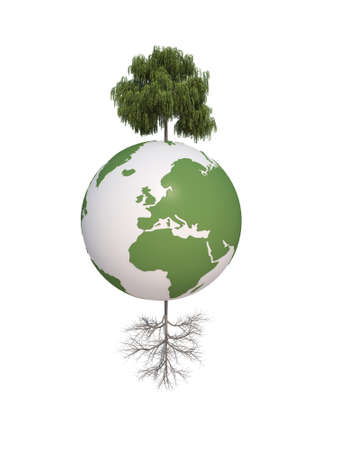 h20: earth green tree ecology 3d cg for web design
