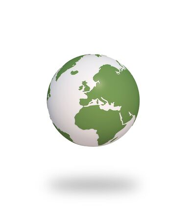 h20: earth green tree ecology 3d cg for web design, presentation or illustration