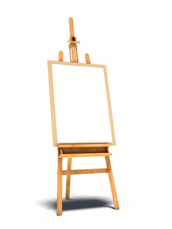 easel stand with picture Stock Photo