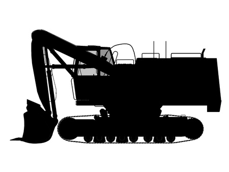 excavator silhouette Stock Photo - 11933225