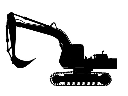 excavator silhouette Stock Photo - 11933224