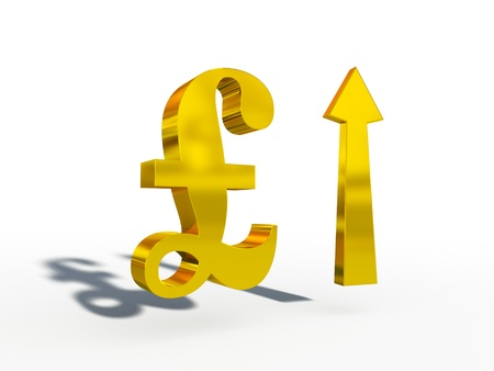 gbp: GBP Pound sterling up down course 3d cg