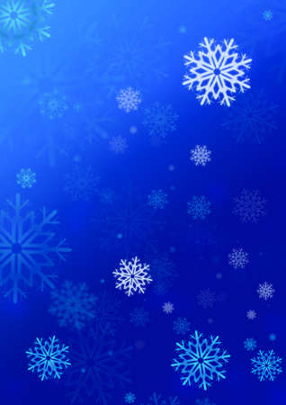 snowflake illustration for greeting card or background illustration