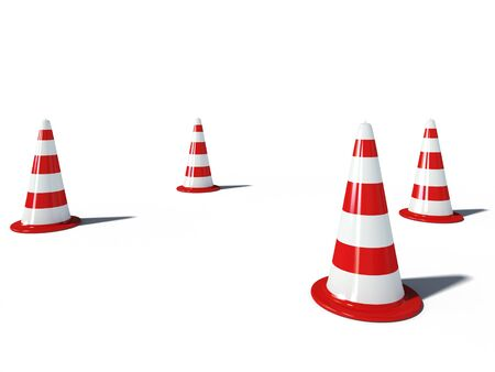 traffic cones 3d cg illustration illustration