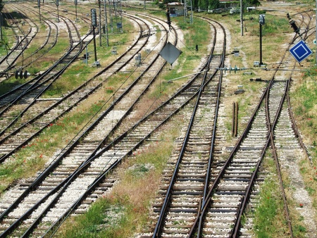 buiseness: train line for backgrounds, desktop or design Stock Photo