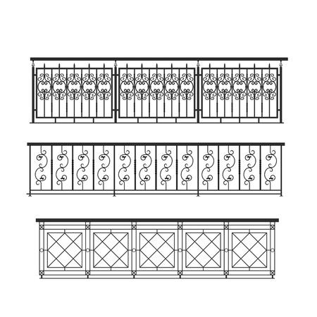 parapet: railing parapet metal for exterior for terrace