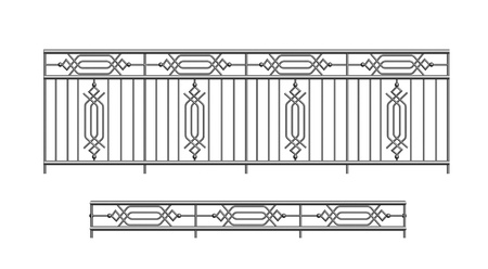 railing parapet metal for exterior terrace