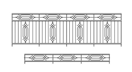 parapet: railing parapet metal for exterior terrace