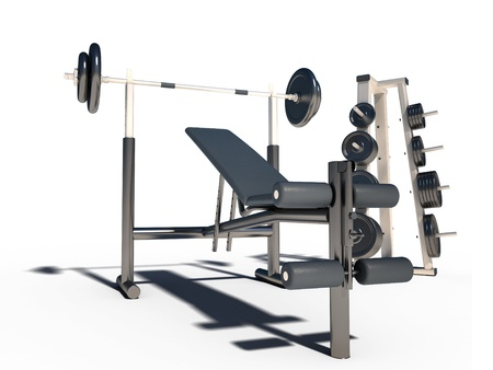 weightlifting equipment: sport couch fitness dumb-bells