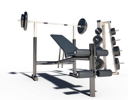 fitness equipment: sport couch fitness dumb-bells