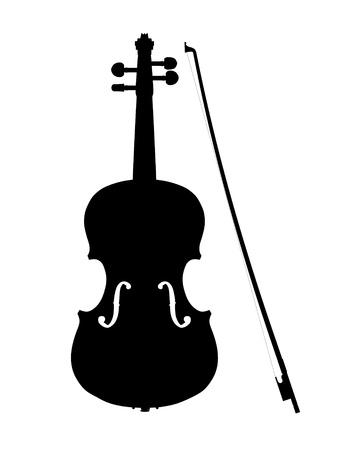violines: viol�n silueta de contorno Foto de archivo
