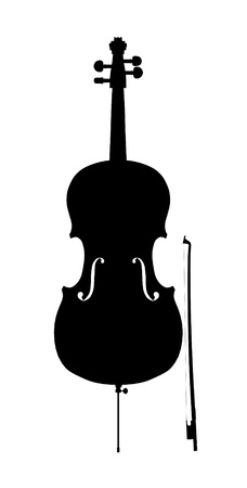 cello outline silhouette Stock Photo