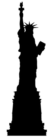 liberty statue: statue of liberty vector outline silhouette