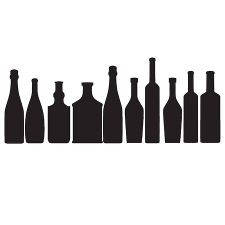 bottles vector outline silhouette Vector