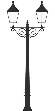 paraffine: straat lamp licht vector schets silhouet