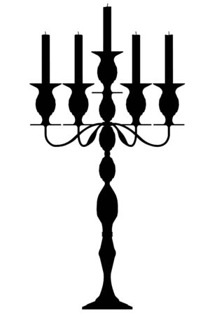 lustre: candle vector outline silhouette Illustration