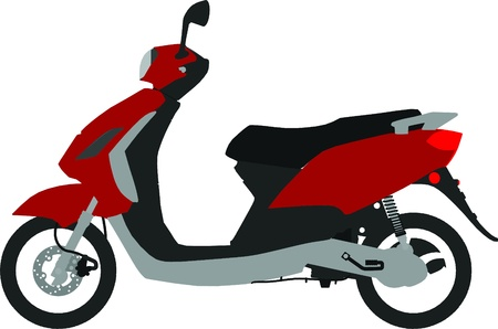 moto scooter vector outline silhouette Vector