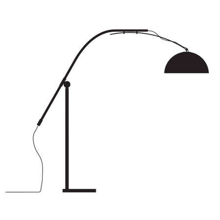 modern lamp vector outline silhouette Vector