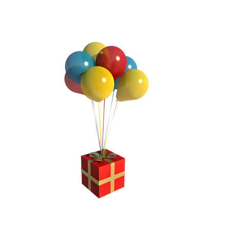 blow up: balloons gift illustration