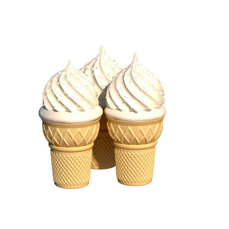 ice cream waffle glass illustration Stock Illustration - 12393064