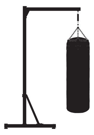 punching: Punch bag outline silhouette