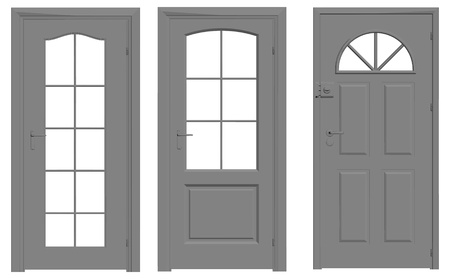 door vector outline silhouette Illustration