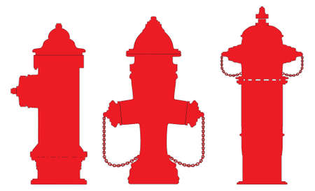 fire plug: hydrant vector outline silhouette Illustration