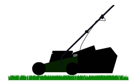 mower outline solhouette Stock Vector - 12492667
