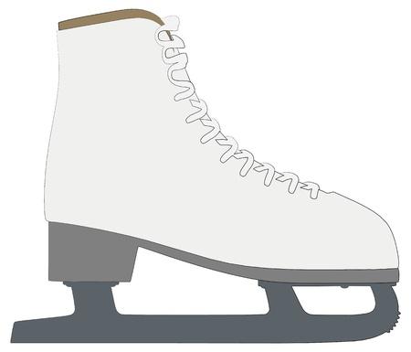 ice skates: skates outline silhouette Illustration