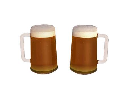 beer pivo foam illustration Stock Photo