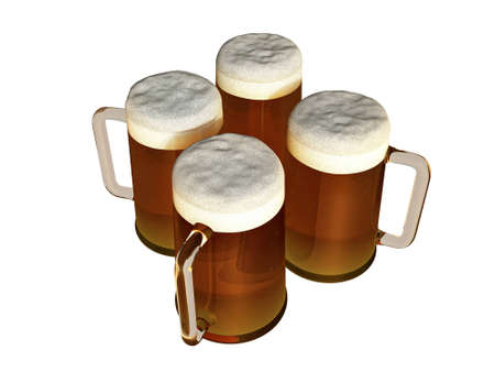 brewer: beer pivo foam illustration Stock Photo