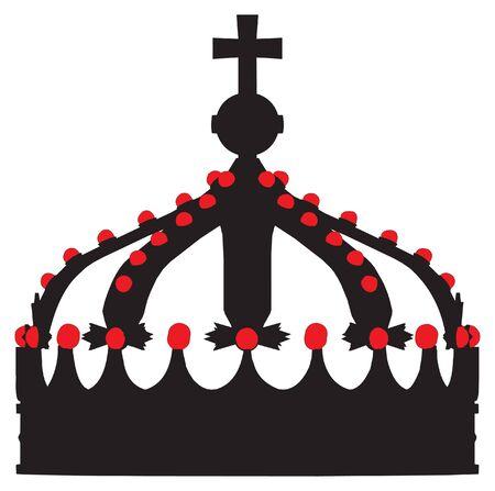 corona de rey: vector de la corona rey esbozo silueta