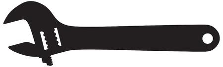 Schraubenschlüssel Vektor Umriss Silhouette Standard-Bild - 12492847